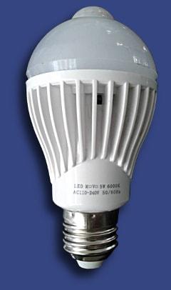 lampadina led con sensore di movimento