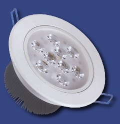 9W faretto ad incasso a led