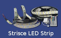 strisce LED luminose